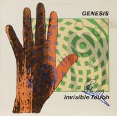 Phil Collins Autographed Genesis Invisible Touch Album Cover - PSA/DNA COA