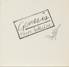 Phil Collins Autographed Genesis Three Sides Live Album Cover - PSA/DNA COA