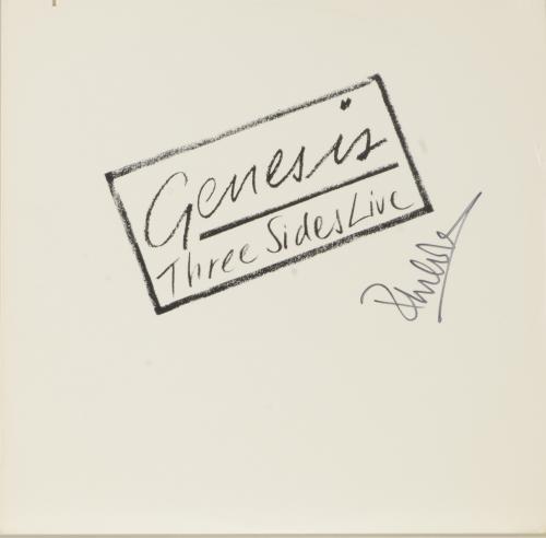 Phil Collins Autographed Genesis Three Sides Live Album Cover - PSA/DNA COA
