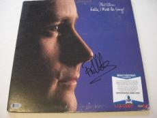 Phil Collins Hello I Must Be Going Mead Chaskey/holo Signed Lp Record Album