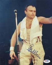 Autographed Phil Collins Photo - 8x10 Psa dna #u65562