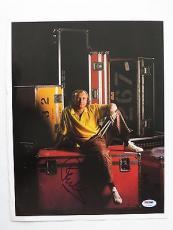 Signed Phil Collins Photograph - Authentic 11x14 Magazine Page PSA DNA) #T32662