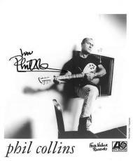 Phil Collins Signed Authentic Autographed 8x10 B/W Photo PSA/DNA #AB96781