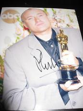 Autographed Phil Collins Photograph - 8x10 OSCAR TROPHY RARE IN THE AIR TONIGHT