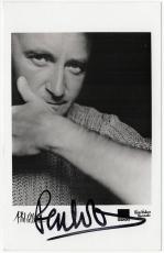 Phil Collins signed autographed 3.5x5.5 photo! Genesis! RARE! Beckett BAS COA!