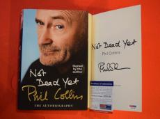 Phil Collins Signed Autographed Not Dead Yet Hardcover Book GENESIS PSA DNA COA