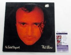 Phil Collins Signed LP Record Album No Jacket Required w/ JSA AUTO