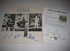 PHIL COLLINS, TONY BANKS & MIKE RUTHERFORD Signed GENESIS Album w/ PSA LOA