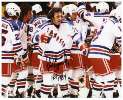 Phil Esposito New York Rangers Autographed 8'' x 10'' Pose Photograph with HOF 84 Inscription - Mounted Memories