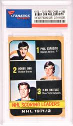 Phil Esposito/Bobby Orr Boston Bruins 1972-73 O Pee Chee  #280 Card