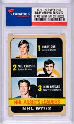 Phil Esposito/Bobby Orr Boston Bruins 1972-73 Topps #62 Card