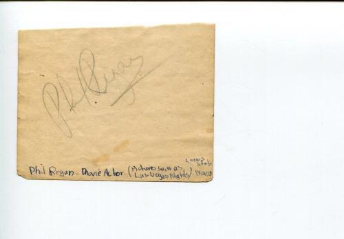 Phil Regan SInger Swing Parade of 1946 Dames Broadway Hostess Singed Autograph