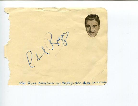 Phil Regan Singer Dames & Martha Raye Monsieur Verdoux Signed Autograph