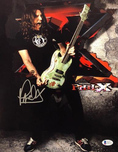Phil X Signed 11x14 Photo *Bon Jovi *Tommy Lee Beckett BAS E49751