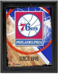 "Philadelphia 76ers Team Logo Sublimated 10.5"" x 13"" Plaque"