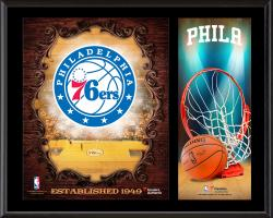 "Philadelphia 76ers Sublimated 12"" x 15"" Team Logo Plaque"