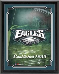 "Philadelphia Eagles Team Logo Sublimated 10.5"" x 13"" Plaque - Mounted Memories"