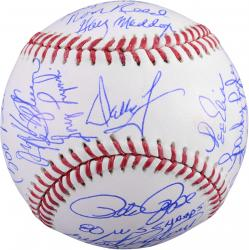Philadelphia Phillies 1980 World Series Champions Team Autographed Baseball with 24 Signatures and Multiple Inscriptions