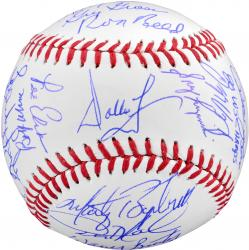 Philadelphia Phillies 1980 World Series Champions Team Autographed World Series Baseball with 24 Signatures and Multiple Inscriptions