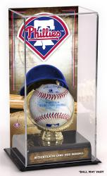 Philadelphia Phillies Game-Used Baseball and Sublimated Display Case