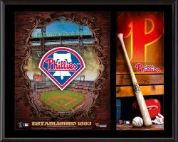 Philadelphia Phillies Sublimated 12'' x 15'' Team Logo Plaque - Mounted Memories