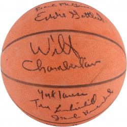 1961-62 Philadelphia Warriors Team Signed Basketball with 13 Signatures