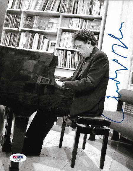 Philip Glass American Legendary Composer Signed 8x10 Auto Photo PSA/DNA (B)