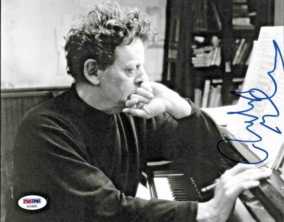 Philip Glass American Legendary Composer Signed 8x10 Auto Photo PSA/DNA (E)