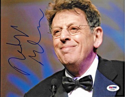 Philip Glass American Legendary Composer Signed 8x10 Auto Photo PSA/DNA (G)