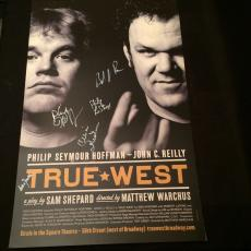 Philip Seymour Hoffman John C. Reilly True West Signed Original Broadway Poster
