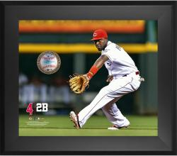 "Brandon Phillips Cincinnati Reds Framed 20"" x 24"" Gamebreaker Photograph with Game-Used Ball"