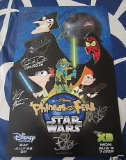 Phineas & Ferb Star Wars cast signed auto 2014 SDCC poster Vincent Martella +6