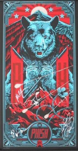 Phish Autographed Dicks CO 8 30 2013 Poster Signed by 4 w Trey PSA  -Not Pollock