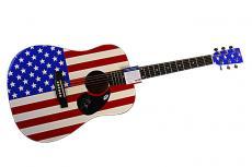Phish Autographed Signed Flag Guitar & Proof UACC & PSA AFTAL