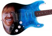 Phish Autographed Trey Anastasio Signed Airbrushed Guitar Preorder PSA AFTAL