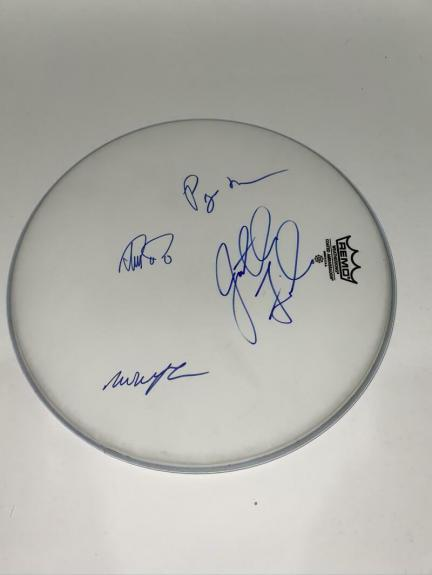 "Phish Band (x4) Signed Autograph 14"" Drumhead Trey Anastasio Jon Fishman +2 Acoa"