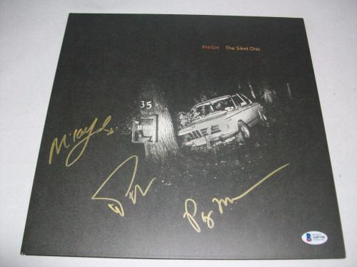 "PHISH signed autographed ""SIKET DISC"" LP RECORD BECKETT LOA (BAS) TREY ANASTASIO"