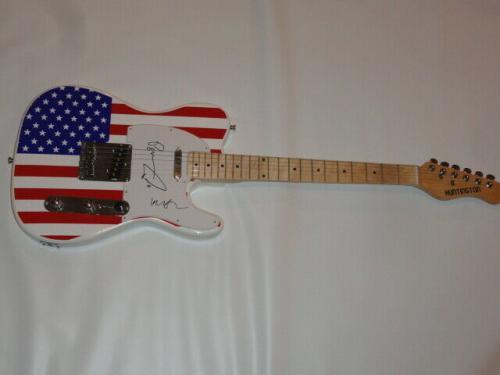 Phish Signed Usa Flag Electric Guitar Trey Anastasio Mike Gordon Page Jsa Coa