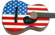 Phish Trey Anastasio Autographed Signed Acoustic Flag Guitar AFTAL