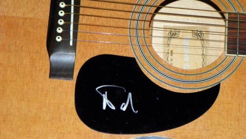 Phish Trey Anastasio Autographed Signed Acoustic Guitar & Proof AFTAL