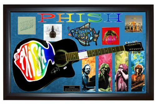 Phish Trey Anastasio Signed Guitar + Display Shadowbox Case PSA AFTAL UACC RD