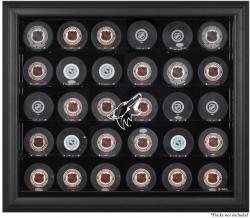 Arizona Coyotes 30-Puck Black Display Case - Mounted Memories