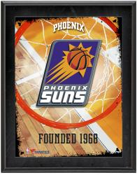 """Phoenix Suns Team Logo Sublimated 10.5"""" x 13"""" Plaque"""