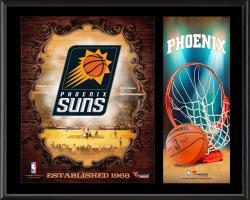 """Phoenix Suns Sublimated 12"""" x 15"""" Team Logo Plaque"""