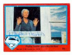Phyllis Thaxter autographed card 1978 Topps Superman #79