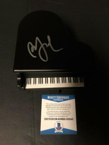 Piano Man Billy Joel Signed Mini Piano Authentic Autograph Bas Beckett Coa 4