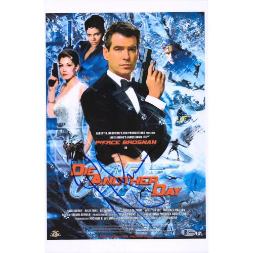 "Pierce Brosnan 007: Die Another Day Autographed 12"" x 18"" Movie Poster - BAS"