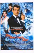 """Pierce Brosnan 007: Die Another Day Autographed 12"""" x 18"""" Movie Poster - BAS"""