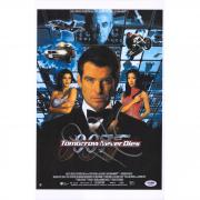 "Pierce Brosnan 007: Tomorrow Never Dies Autographed 12"" x 18"" Movie Poster - PSA"