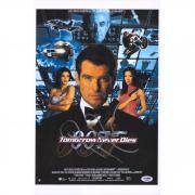 "Pierce Brosnan 007: Tomorrow Never Dies Autographed 12"" x 18"" Movie Poster - PSA"